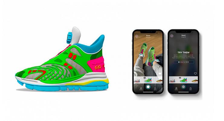 Gucci推出首款AR虚拟鞋系列,网友:相当于花钱买了个高级滤镜