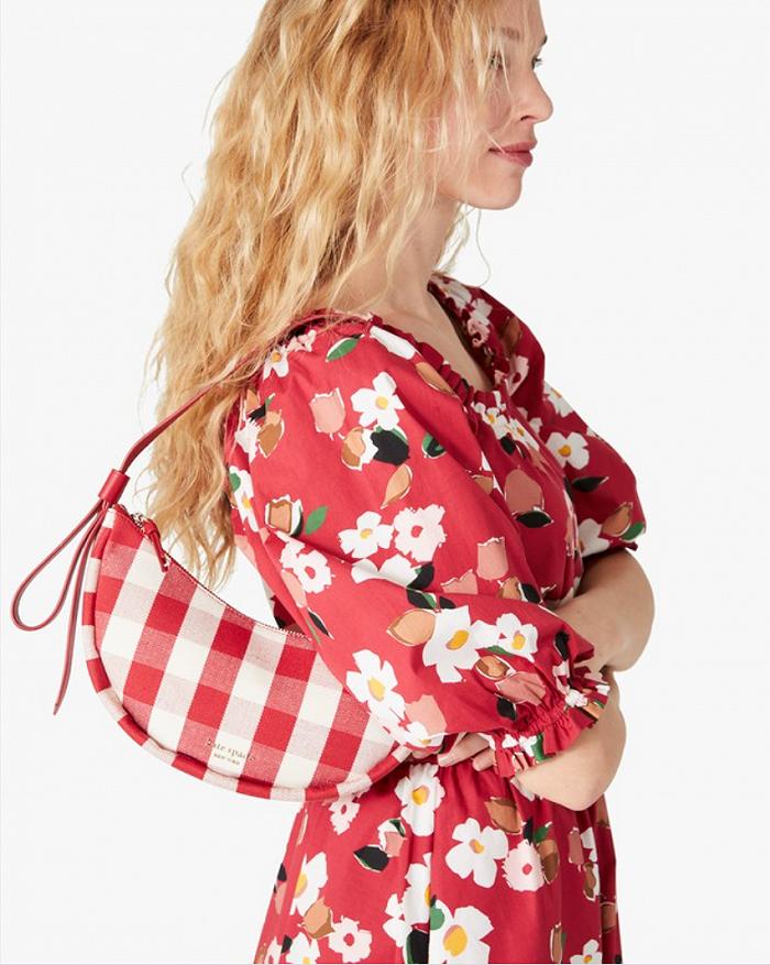 Kate Spade2021春夏新款法式格纹包