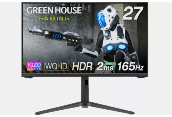 Green House 推出 IGZO 电竞面板显示器,27 英寸
